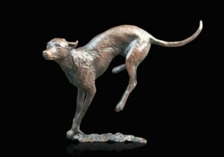 Lurcher - Signed Limited Edition Bronze Sculpture From Michael Simpson