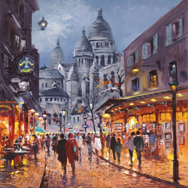 Sacre Coeur, Midnight - Signed Limited Canvas Edition From Henderson Cisz