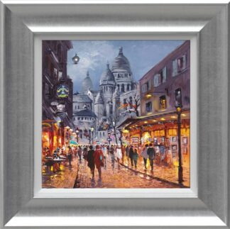 Sacre Coeur, Midnight - Signed Limited Canvas Edition From Henderson Cisz Framed