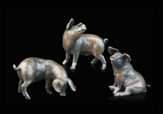 Three Little Pigs - Signed Limited Edition Bronze Sculpture From Michael Simpson
