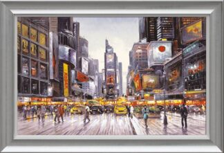 Times Square Morning - Signed Limited Canvas Edition From Henderson Cisz Framed