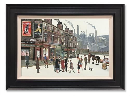 Pit Scene - signed Limited Edition Canvas by Allen Tortice Framed