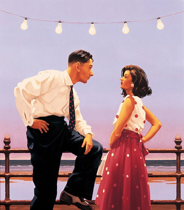 The Big Tease - Signed Limited Edition Paper Print By Jack Vettriano