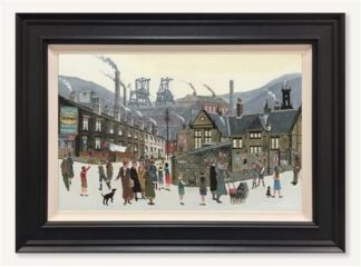 How Green Was My Valley - signed Limited Edition Canvas Print by Allen Tortice Framed