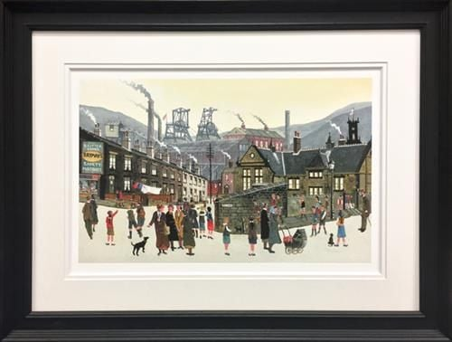 How Green Was My Valley - signed Limited Edition Paper Print by Allen Tortice Framed