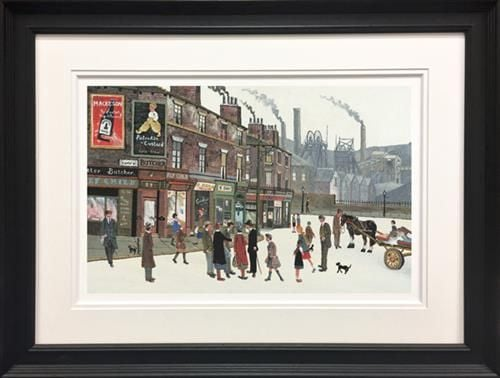 Pit Scene - signed Limited Edition Paper Print by Allen Tortice Framed