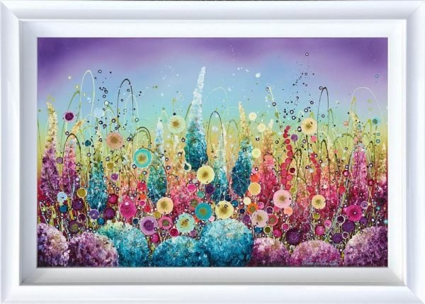 Hand embellished print by Leanne Christie