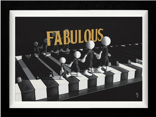Fabulous - Signed Limited Edition Print by Mark Grieves -Canvas - Framed