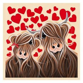 McLove- Signed Limited Edition Print by Jennifer Hogwood - Studio collection, Hand embellished canvas on board Framed