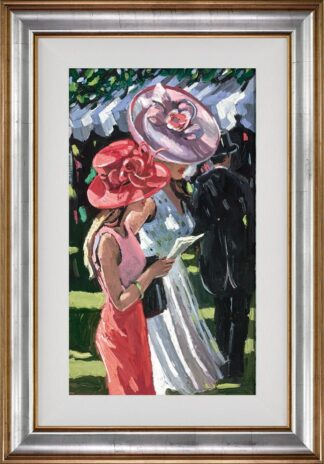 Ascot Ladies - Signed Limited Edition Canvas Print By Sherree Valentine Daines - Framed