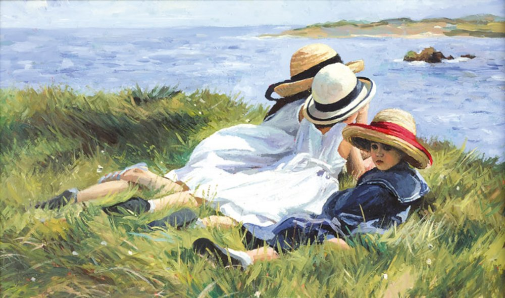 Island Lookouts - Signed Limited Edition Canvas Print By Sherree Valentine Daines - unframed