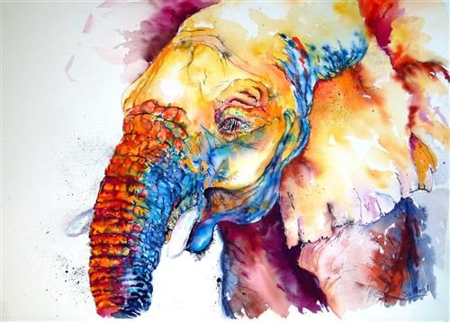Nosey Nigel small - Signed Limited edition print by Jos Haigh