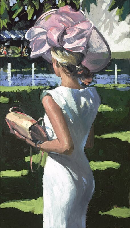 Riverside Chic - Signed Limited Edition Canvas Print By Sherree Valentine Daines - unframed