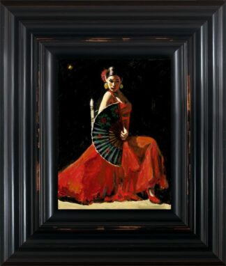 Study for Celina with Abanico IV - Signed Limited Edition Print By Fabian Perez - Canvas on board Framed