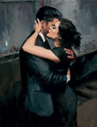 the Train Station VII - Signed limited Edition Print By Fabian Perez - Canvas on Board