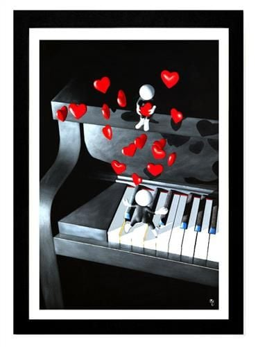Our Love Song - Signed limited Edition resined Print by Mark Grieves Framed