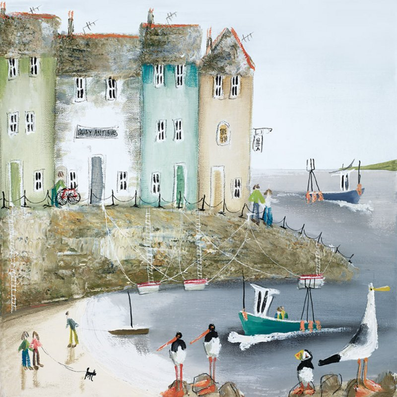 Over the Sea I - Signed Limited Edition Print by Rebecca Lardner - Paper And Mounted Unframed