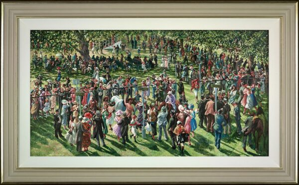 The Winners Enclosure Signed Limited edition canvas print by Sherree Valentine Daines Framed in the artists recommended frame