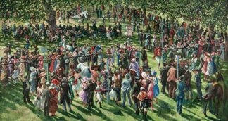The Winners Enclosure Ascot - Signed Limited Edition Print By Sherree Valentine Daines - Hand Embellished Stretched Canvas Unframed