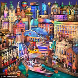Liverpool Nightfall signed limited Paper print from Keith Drury - unmounted