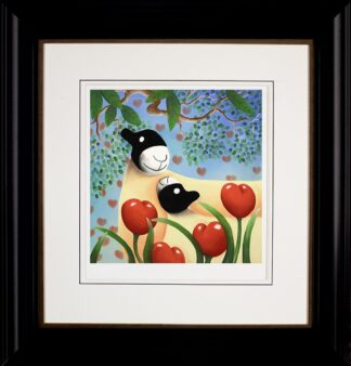 I Love You Too - signed limited edition Paper print by Mackenzie Thorpe framed in the artists recommended frame