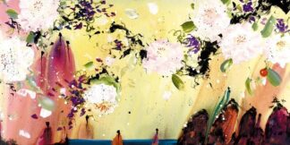 Messengers Of Love II - Signed Limited Edition Glazed Boxed Canvas By Print By Danielle O'Connor Akiyama - UNFRAMED