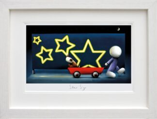 Star Sign - Signed Limited Edition Neon Billboard Print - Paper & Mounted By Doug Hyde - FRAMED