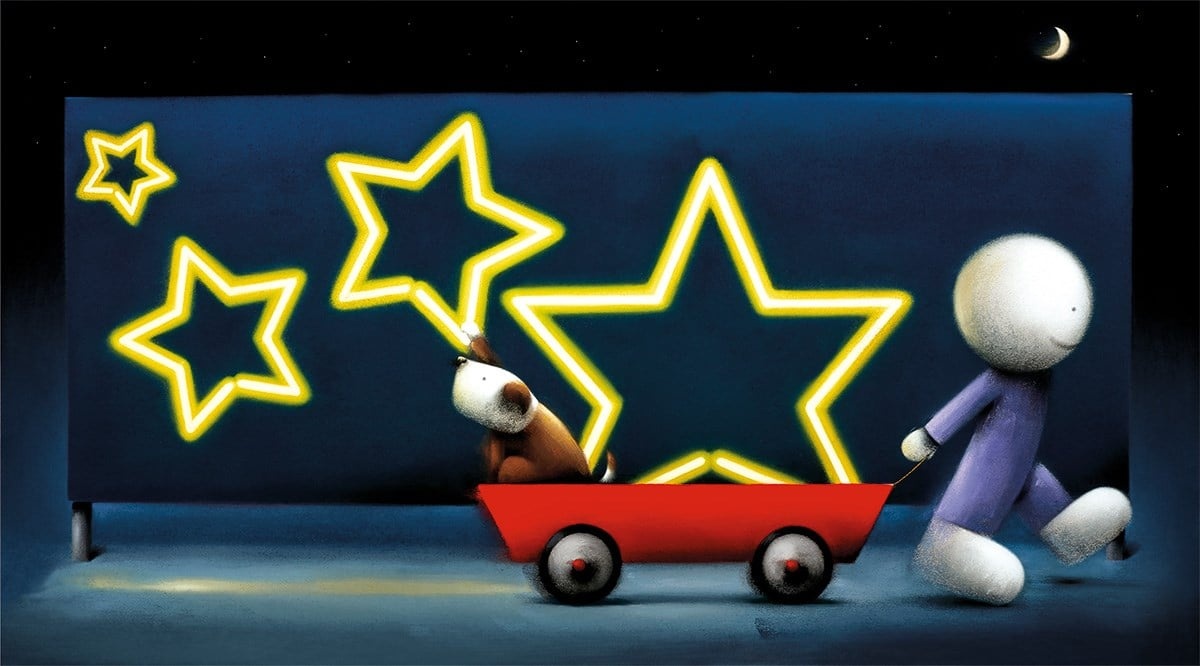 Star Sign - Signed Limited Edition Neon Billboard Print - Paper & Mounted By Doug Hyde - UNFRAMED