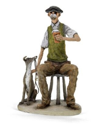 Walking The Dog - Signed Limited Edition Resin Sculpture - By Grant Palmer