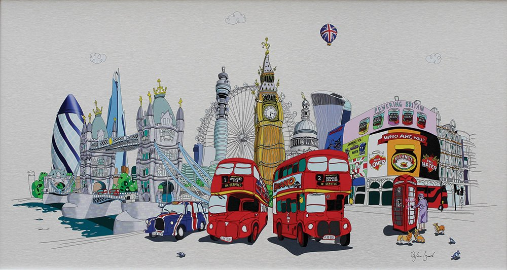 Whistle Stop tour - Signed Limited Aluminium edition by Dylan Izaak - Unframed