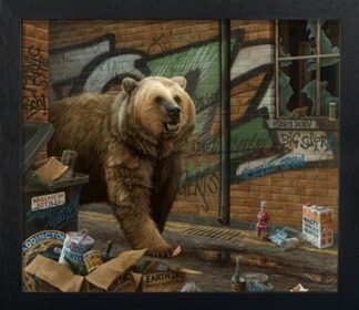 Grizzly - Signed Limited Edition Paper Print by Paul James - FRAMED