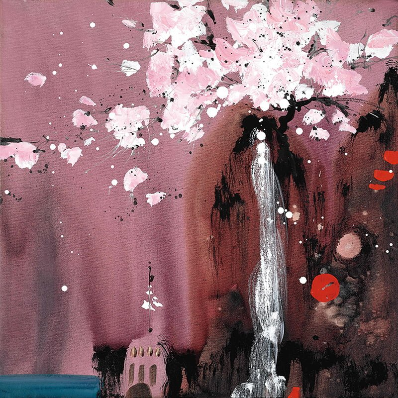 Painted Dreams I - Signed Limited Edition Glazed Boxed Canvas Print By Danielle O'Connor Akiyama - UNFRAMED