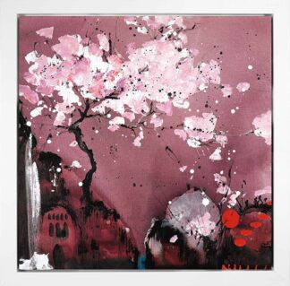 Painted Dreams II - Signed Limited Edition Glazed Boxed Canvas Print By Danielle O'Connor Akiyama - FRAMED