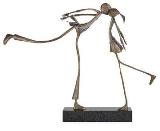 Sealed With A Kiss - Signed Limited Edition Bronze Sculpture By Ed Rust