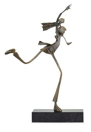 Stepping Out - Signed Limited Edition Bronze Sculpture By Ed Rust
