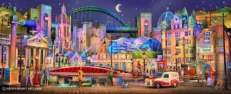 Newcastle Way - Signed Limited Edition Paper Print by Keith Drury - Unmounted