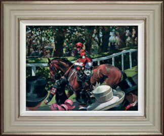 Ascot Race Day II - Signed Limited Edition Hand Embellished Canvas Print on Board By Sherree Valentine Daines - Framed