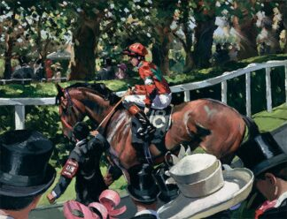 Ascot Race Day II - Signed Limited Edition Hand Embellished Canvas Print on Board by Sherree Valentine Daines - Unframed
