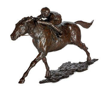 Ascot Racing - Signed Limited Edition Bronze Sculpture By Sherree Valentine Daines