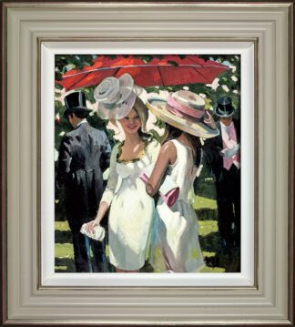 Glamorous Ladies - Signed Limited Edition Hand Embellished Canvas by Sherree Valentine Daines Framed