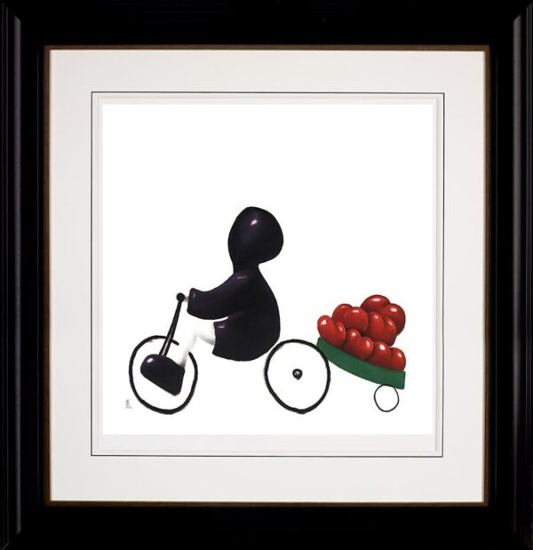 A Load Of Love - signed limited edition paper print by Mackenzie Thorpe framed in the artists recommended frame
