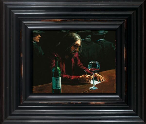 Man At Bar VII - Hand Embellished Signed Limited Edition Canvas Print by Fabian Perez - Mounted and Framed in the Artists recommended Frame