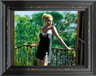 Sally In The Sun - Hand Embellished Signed Limited Edition Canvas Print by Fabian Perez - Mounted and Framed in the Artists Recommended Frame
