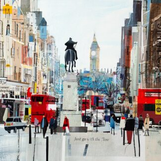 Whitehall Flow - Hand Embellished Signed Limited Edition Paper Print by Tom Butler - Mounted Unframed
