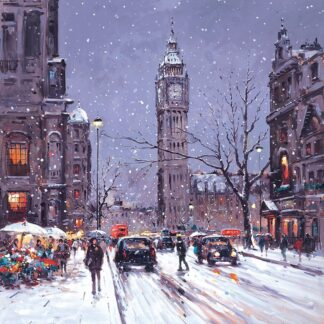 Winter Palace - Hand Embellished Signed Limited Edition Canvas Print by Henderson Cisz - Mounted Unframed