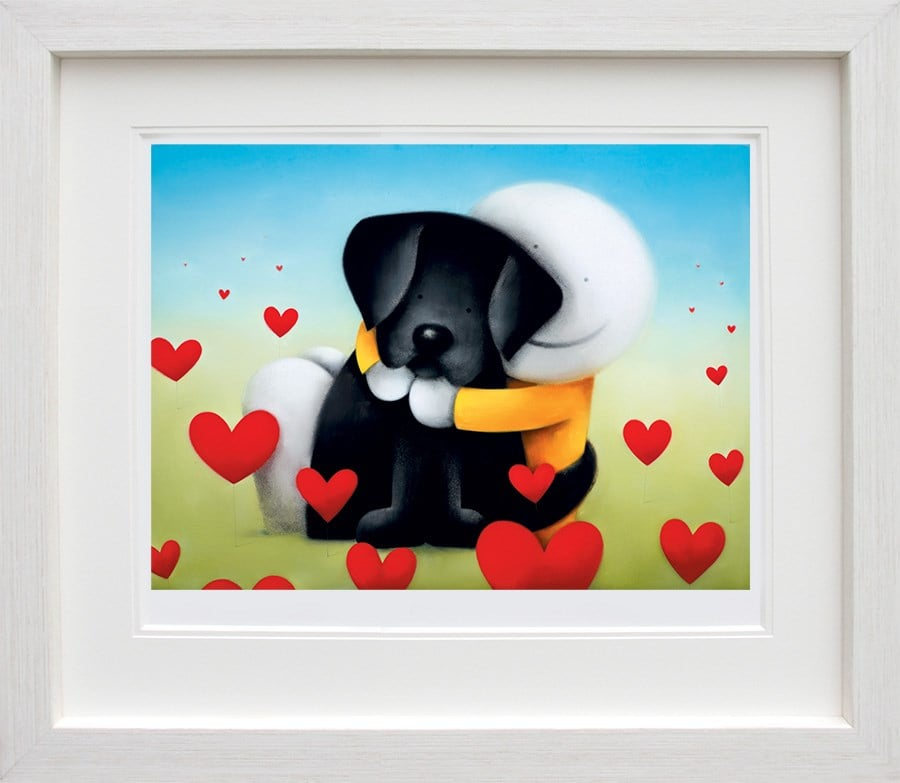 Head Over Heels - Signed Limited Edition Paper And Mounted Print from Doug Hyde - Framed