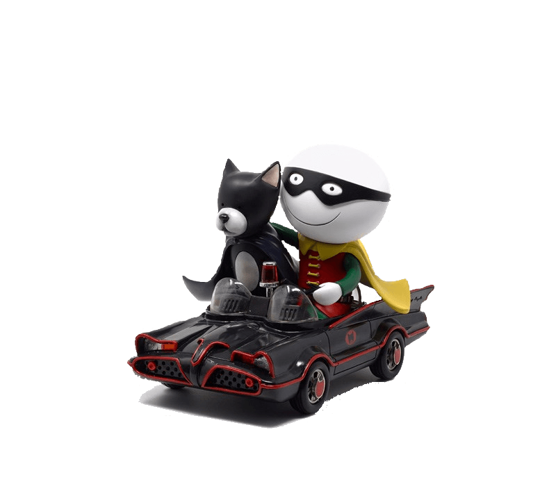 Catman And Robin - Signed Limited Edition Cold Cast Porcelain Sculpture from Doug Hyde