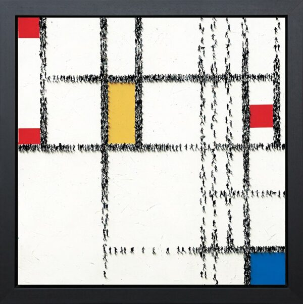 Grid Lock - signed limited edition boxed canvas print by Craig Alan framed in the artists recommended frame