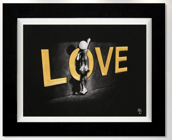 Love Lifts Us Up - Signed Limited Edition Print - Hand Embellished Canvas with 3D Resin Elements by Mark Grieves - Compulsory Framed