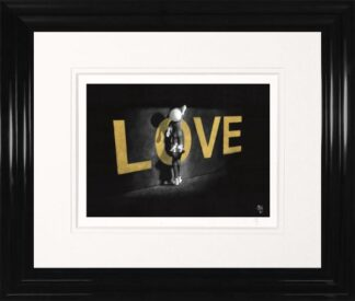 Love Lifts Us Up - Signed Limited Edition Paper and Mounted Print by Mark Grieves - Framed